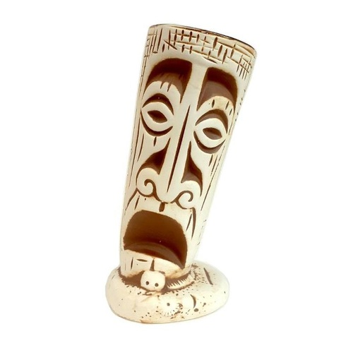"Ceramic ""Tilted Totem"" Tiki Mug 414ml"