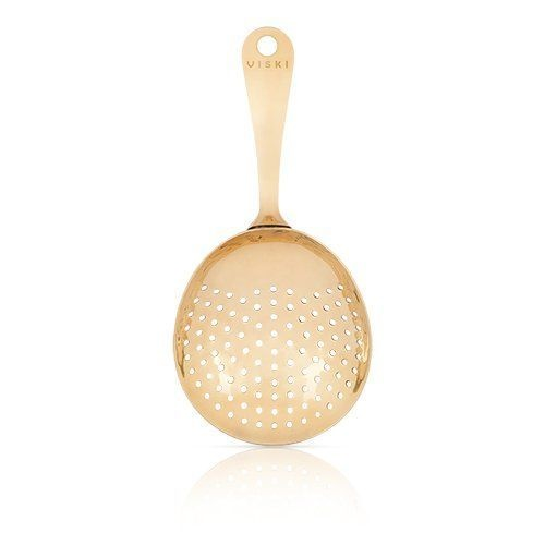 Viski: Julep Strainer - Gold Plated