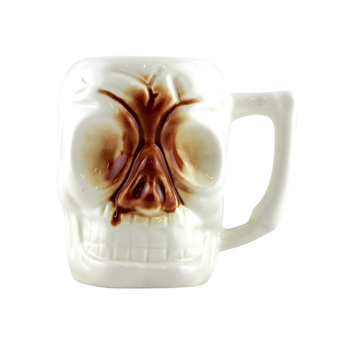 "Ceramic ""Skull"" Tiki Mug 296ml"