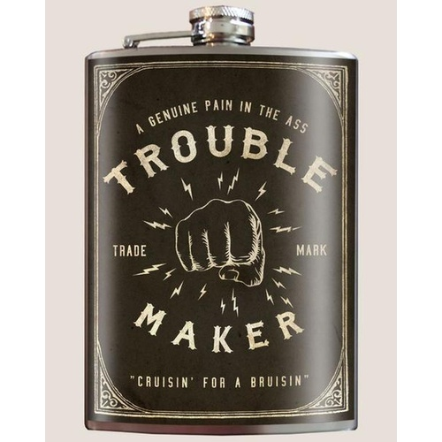 Trixie & Milo Flask - Trouble Maker